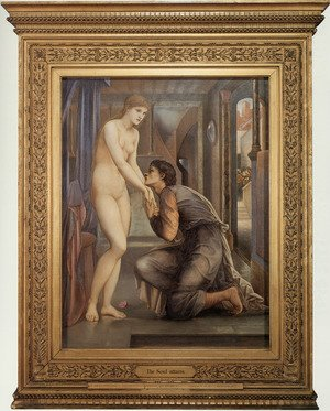 Pre-Raphaelites painting reproductions: Pygmalion And The Image: IV   The Soul Attains