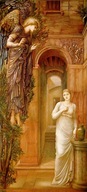 Pre-Raphaelites painting reproductions: The Annunciation, 1879