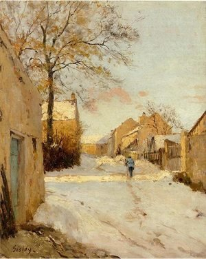 Reproduction oil paintings - Alfred Sisley - A Village Street In Winter
