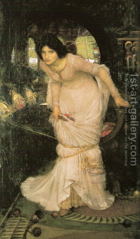 Waterhouse: The Lady Of Shalott - reproduction oil painting