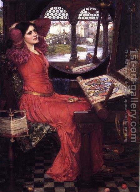 Waterhouse: I am Half Sick of Shadows, Said the Lady of Shalott  c.1916 - reproduction oil painting