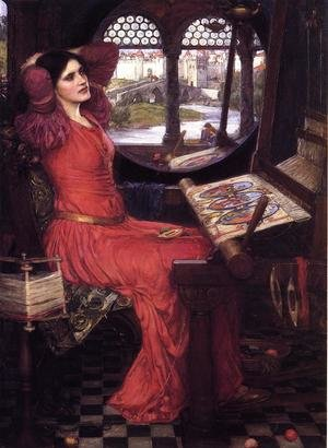 Reproduction oil paintings - Waterhouse - I am Half Sick of Shadows, Said the Lady of Shalott  c.1916