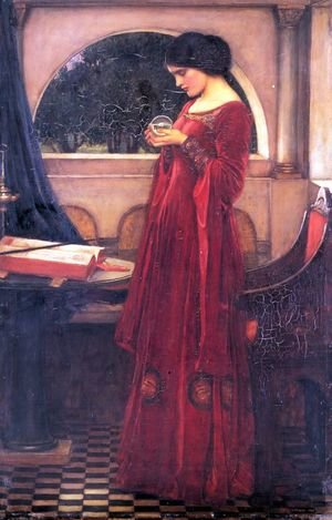 Pre-Raphaelites painting reproductions: Crystal Ball