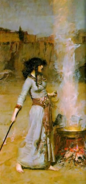 Pre-Raphaelites painting reproductions: The Magic Circle