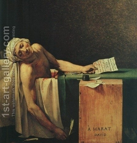 The Death Of Marat  (detail 2) 1793 by Jacques Louis David - Reproduction Oil Painting
