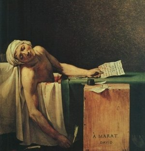 Neo-Classical painting reproductions: The Death Of Marat  (detail 2) 1793