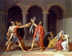 Reproduction oil paintings - Jacques Louis David - The Oath of the Horatii 1784