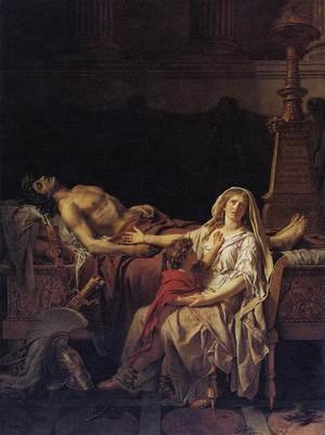 Reproduction oil paintings - Jacques Louis David - Andromache Mourning Hector 1783