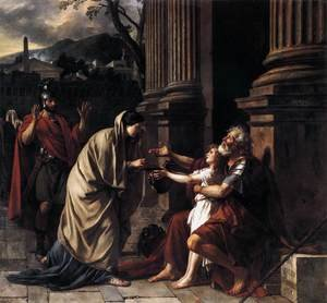 Reproduction oil paintings - Jacques Louis David - Belisarius Receiving Alms 1781