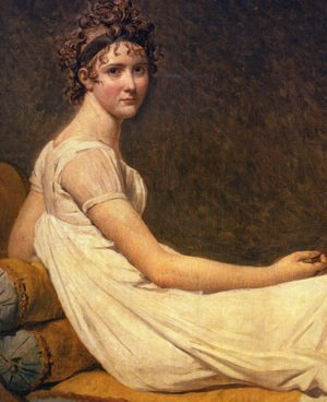 Reproduction oil paintings - Jacques Louis David - Madame Recamier