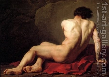 Jacques Louis David: Male Nude Known As Patroclus - reproduction oil painting