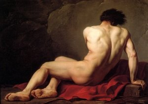 Reproduction oil paintings - Jacques Louis David - Male Nude Known As Patroclus