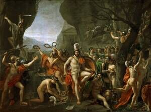 Reproduction oil paintings - Jacques Louis David - Leonidas at Thermopylae 1814