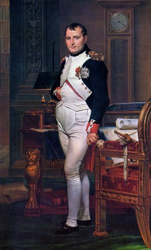 Reproduction oil paintings - Jacques Louis David - Napoleon in his Study 1812