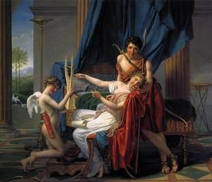 Reproduction oil paintings - Jacques Louis David - Sappho and Phaon 1809