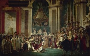Jacques Louis David reproductions - Consecration of the Emperor Napoleon I and Coronation of the Empress Josephine 1805-07