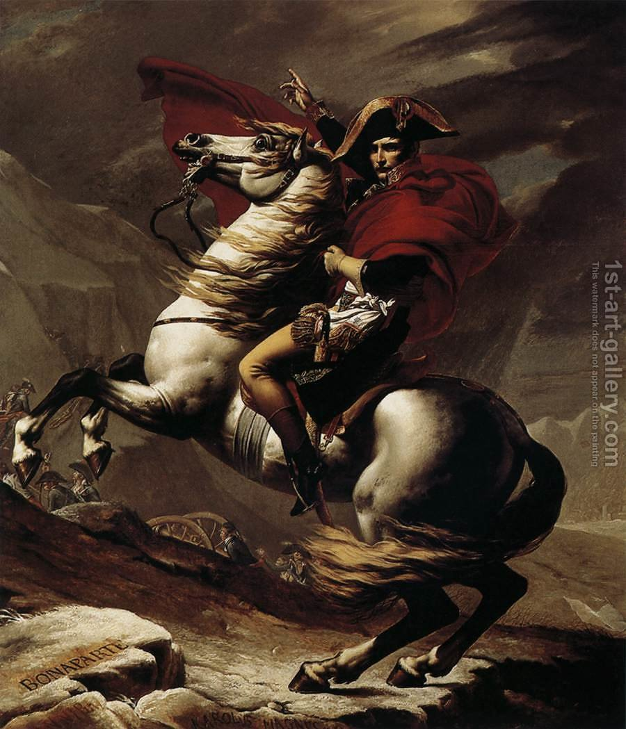 Huge version of Bonaparte, Calm on a Fiery Steed, Crossing the Alps 1801