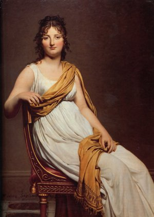 Reproduction oil paintings - Jacques Louis David - Madame Raymond de Verninac 1798-99