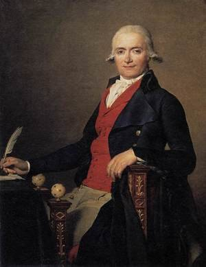 Reproduction oil paintings - Jacques Louis David - Portrait of Gaspar Mayer 1795