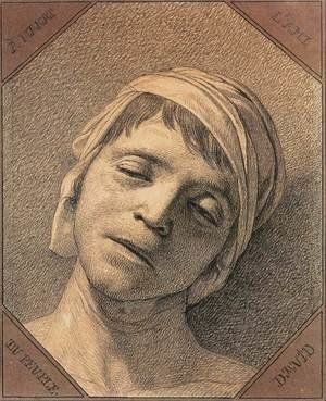Reproduction oil paintings - Jacques Louis David - Head of the Dead Marat 1793