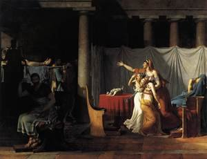 Reproduction oil paintings - Jacques Louis David - The Lictors Returning to Brutus the Bodies of his Sons 1789