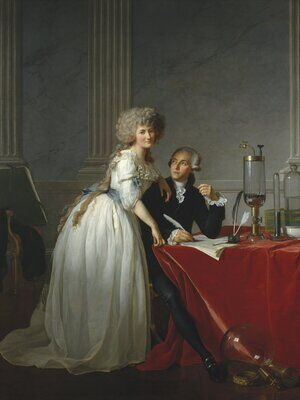 Reproduction oil paintings - Jacques Louis David - Portrait of Antoine-Laurent and Marie-Anne Lavoisier 1788