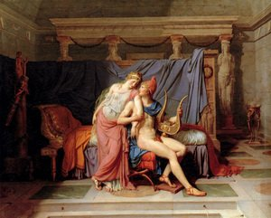 Reproduction oil paintings - Jacques Louis David - The Loves of Paris and Helen 1788