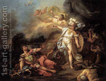 Jacques Louis David: The Combat of Mars and Minerva 1771 - reproduction oil painting