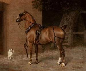 Romanticism painting reproductions: A Carriage Horse