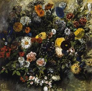 Romanticism painting reproductions: Bouquet of Flowers 1849-50