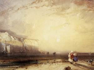 Famous paintings of Summer: Sunset In The Pays De Caux 1828
