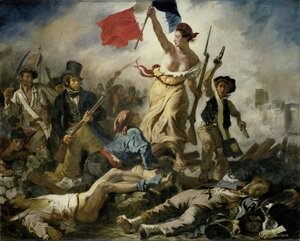 Famous paintings of Military: Liberty Leading the People (28th July 1830) 1830