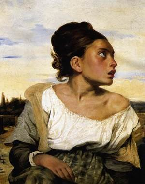 Girl Seated in a Cemetery 1824