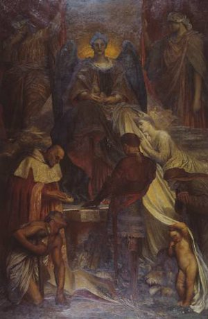 Pre-Raphaelites painting reproductions: The Court Of Death