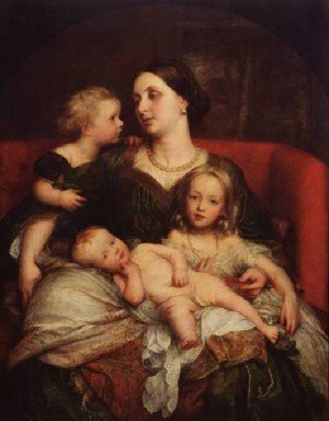 Pre-Raphaelites painting reproductions: Mrs George Augustus Frederick Cavendish Bentinck And Her Children