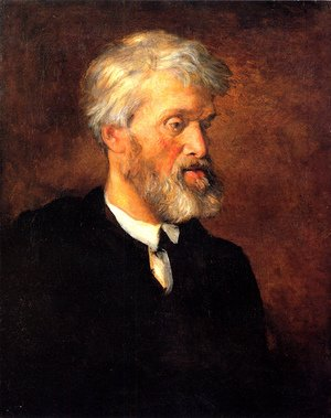 Pre-Raphaelites painting reproductions: Portrait Of Thomas Carlyle
