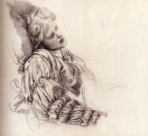 Pre-Raphaelites painting reproductions: Ellen Terry Asleep