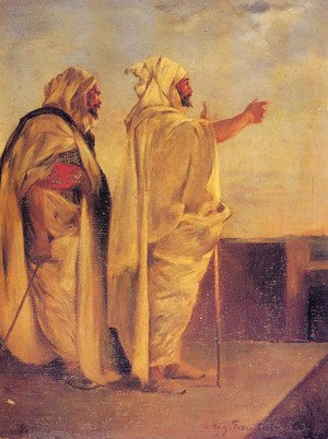 Neo-Classical painting reproductions: Two Arabs On A Terrace
