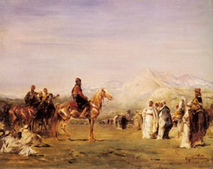 Neo-Classical painting reproductions: Arab Encampment In The Atlas Mountains