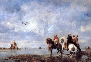 Famous paintings of Horses & Horse Riding: The Heron Hunt