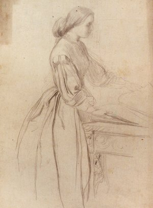 Pre-Raphaelites painting reproductions: Portrait Of A Lady  Possibly Julia Jackson