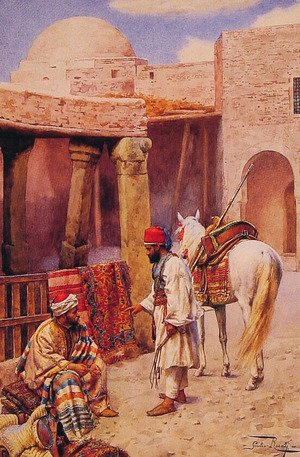 Famous paintings of Deserts: The Carpet Seller