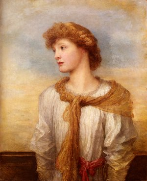 Pre-Raphaelites painting reproductions: Portrait Of Miss Lilian Macintosh