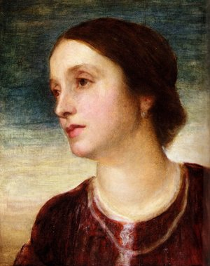 Pre-Raphaelites painting reproductions: Portrait Of The Countess Somers