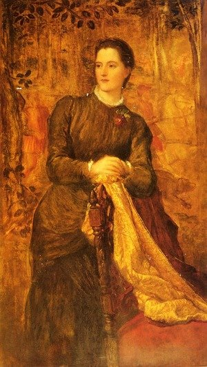 Pre-Raphaelites painting reproductions: The Honourable Mary Baring  Later The Marchioness Of Northampton