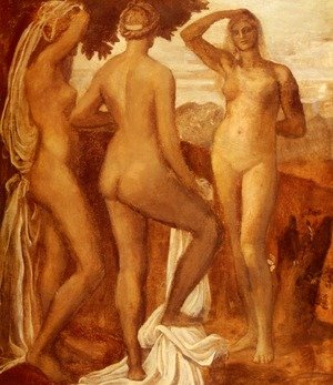 Pre-Raphaelites painting reproductions: The Judgement Of Paris