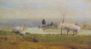 Reproduction oil paintings - George Inness - Pond At Milton On The Hudson