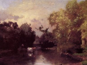 Reproduction oil paintings - George Inness - The Pequonic  New Jersey