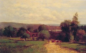 Reproduction oil paintings - George Inness - Spring