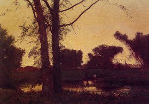 Reproduction oil paintings - George Inness - Sunset